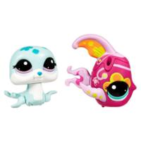 LITTLEST PET SHOP WALKABLES Pets (Seal and Fish)