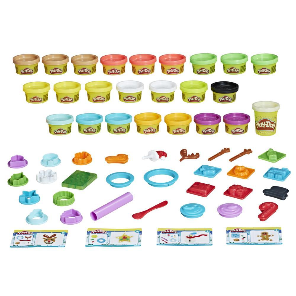 Play-Doh Advent Calendar Toy for Kids 3 Years and Up with Over 24 Surprises, Playmats, and 24 Play-Doh Cans