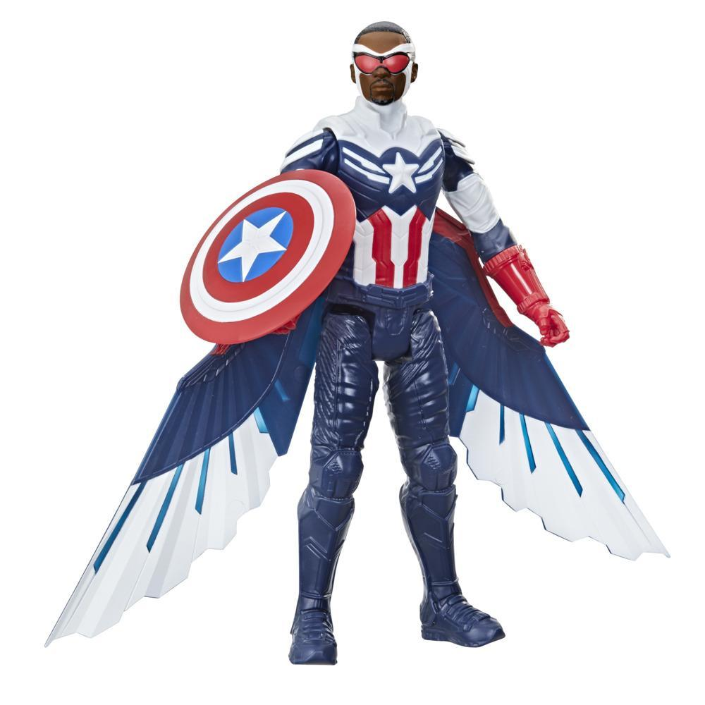 Marvel Studios Avengers Titan Hero Series Captain America Action Figure, 12-Inch Toy, Includes Wings, For Kids Ages 4 And Up