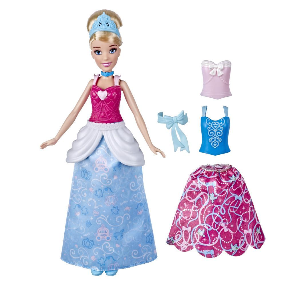 Disney Princess Snap and Style Cinderella Fashion Doll with Snap-on Mix and Match Outfits, Toy for Girls 3 Years and Up
