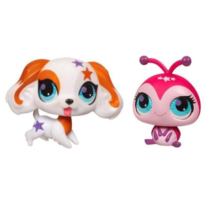 LITTLEST PET SHOP TOTALLY TALENTED Cocker Spaniel and Ladybug