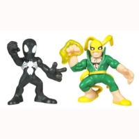 Marvel Super Hero Squad - Iron Fist and Black Costume Spider-Man