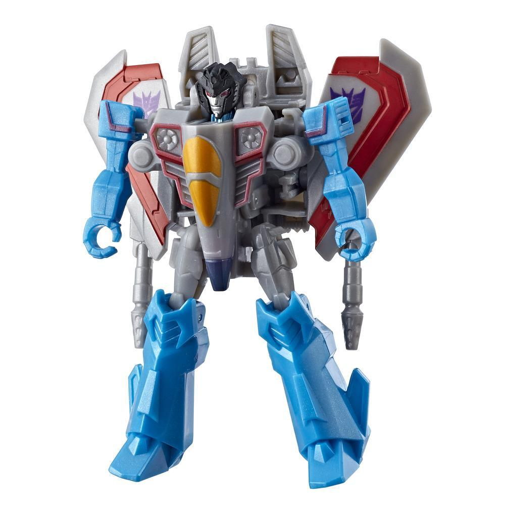 Transformers Toys Cyberverse Action Attackers Scout Class Starscream Action Figure - Repeatable Wing Slice Action Attack - For Kids Ages 6 and Up, 3.75-inch