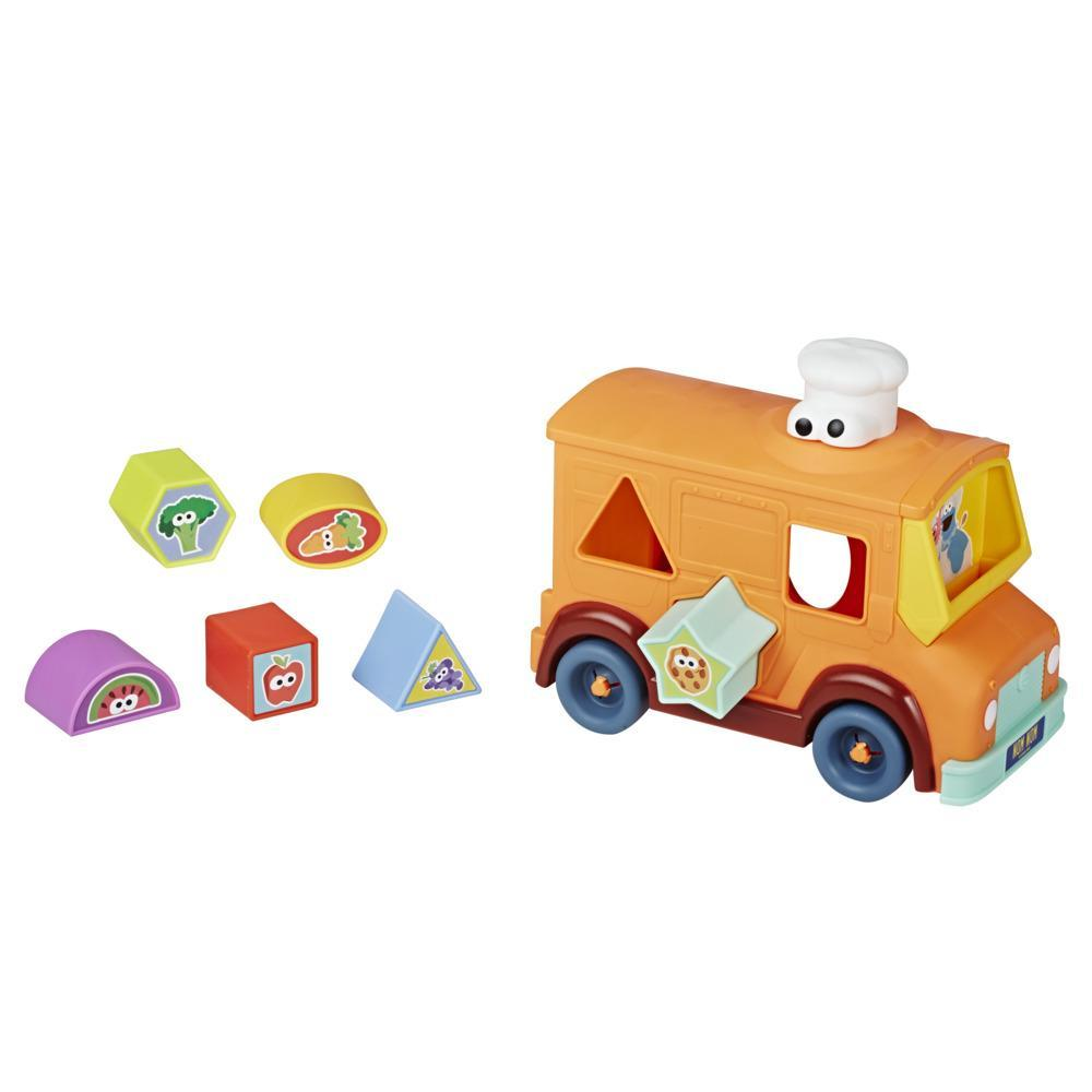 Sesame Street Cookie Monster's Foodie Truck, Shape Sorter and Vehicle Toy for Kids Ages 18 Months and Up