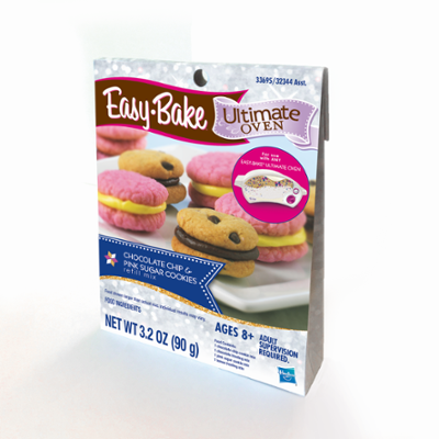 Easy-Bake Ultimate Oven Chocolate Chip & Pink Sugar Cookies Refill Pack Toy