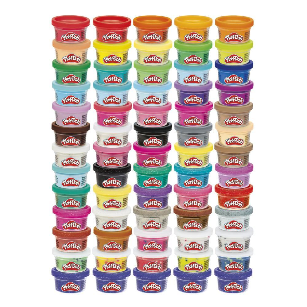 Play-Doh Ultimate Color Collection 65-Pack of Assorted Modeling Compounds for Kids 3 Years and Up, Non-Toxic, Fun Size 1-Ounce Cans