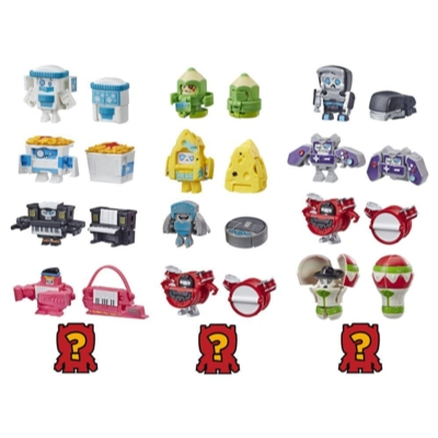 Transformers BotBots Toys Series 2 Music Mob 5-Pack – Mystery 2-In-1 Collectible Figures! Kids Ages 5 and Up (Styles and Colors May Vary) by Hasbro