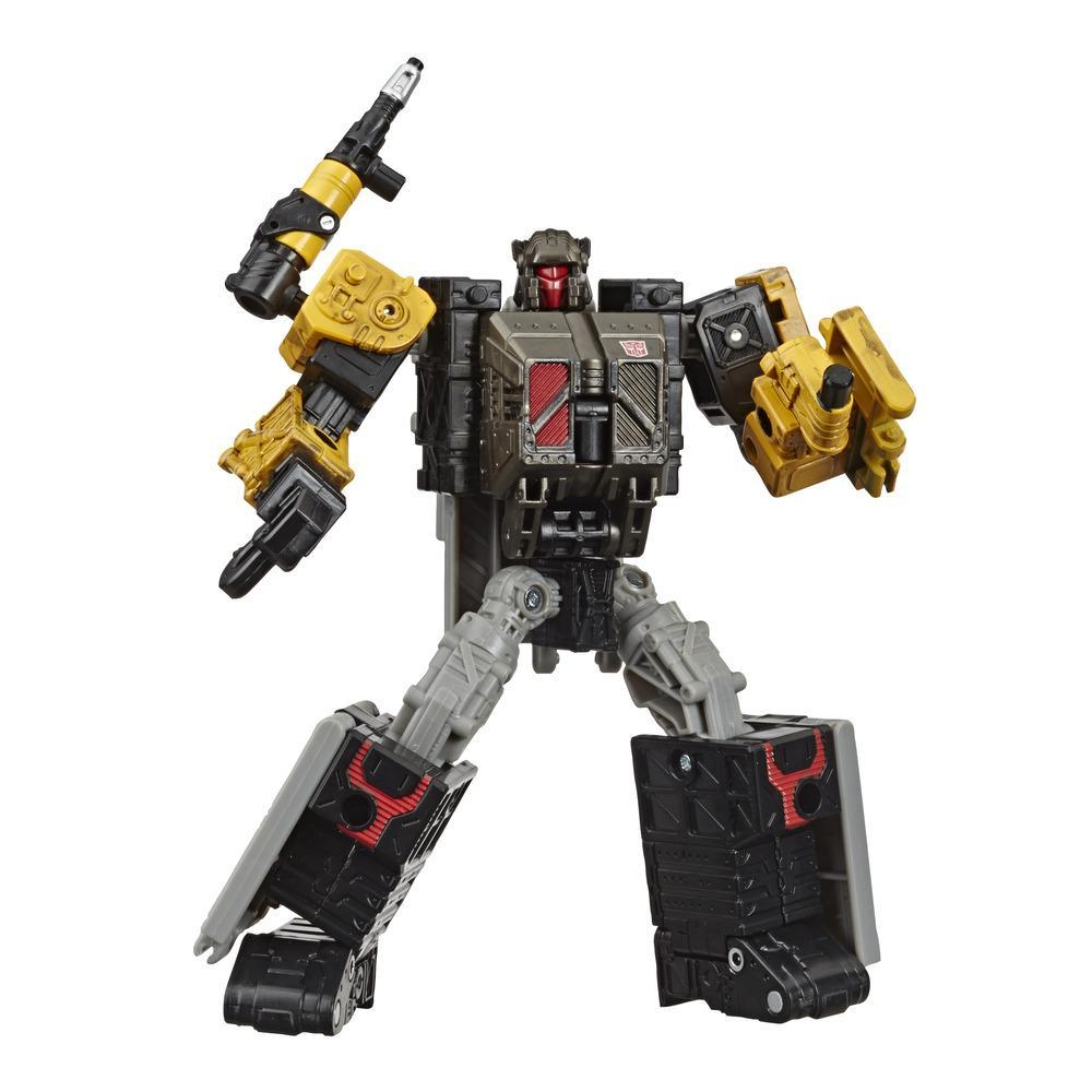 Transformers Toys Generations War for Cybertron: Earthrise Deluxe WFC-E8 Ironworks Modulator Figure, 5.5-inch