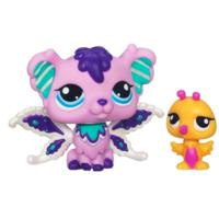LITTLEST PET SHOP Fairies SHIMMERING SKY Sprinkle Fog Fairy and Hummingbird