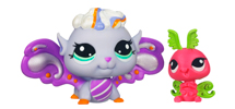 LITTLEST PET SHOP Fairies SHIMMERING SKY Morning Haze Fairy and Luna Moth