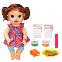 Baby Alive Super Snacks Snackin' Sara - Brunette Hair