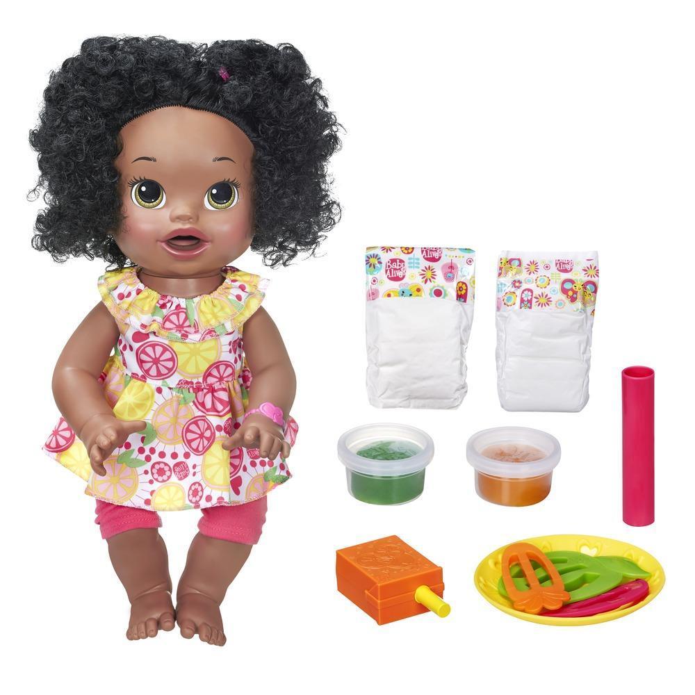 Baby Alive Super Snacks Snackin' Sara - Dark Brown Hair