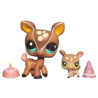 LITTLEST PET SHOP – CUTEST PETS – PARTY TIME WITH MOMMY - Mommy Deer and Baby Deer Set