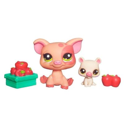 LITTLEST PET SHOP – CUTEST PETS – SNACK TIME WITH MOMMY - Mommy Pig and Baby Pig Set