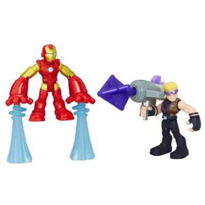 Playskool Heroes Marvel Super Hero Adventures Iron Man and Marvel's Hawkeye