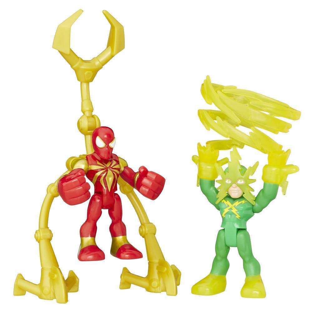 Playskool Heroes Marvel Super Hero Adventures Iron Spider and Marvel's Electro