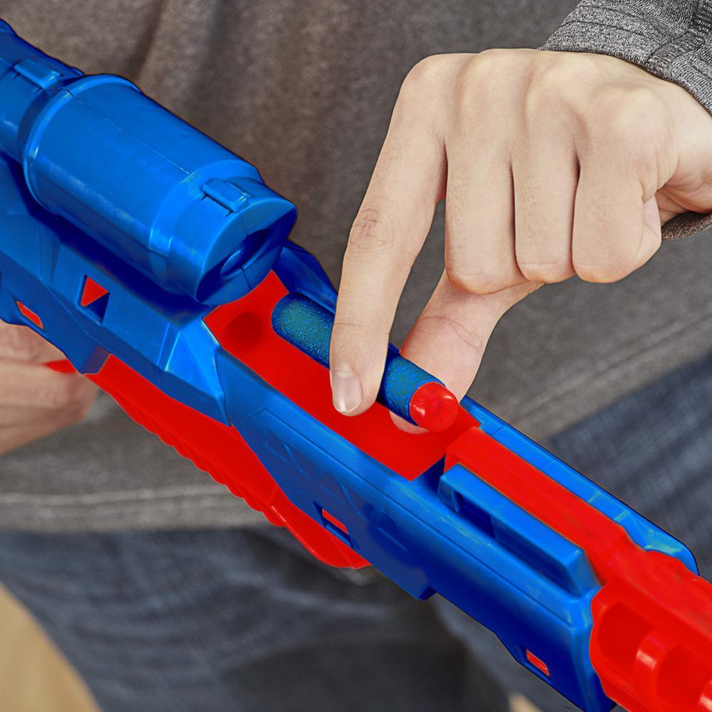 Nerf Alpha Strike Mantis LR-1 Dart Blaster with Targeting Scope, 5 Nerf Elite Foam Darts -- Easy Load Prime Fire