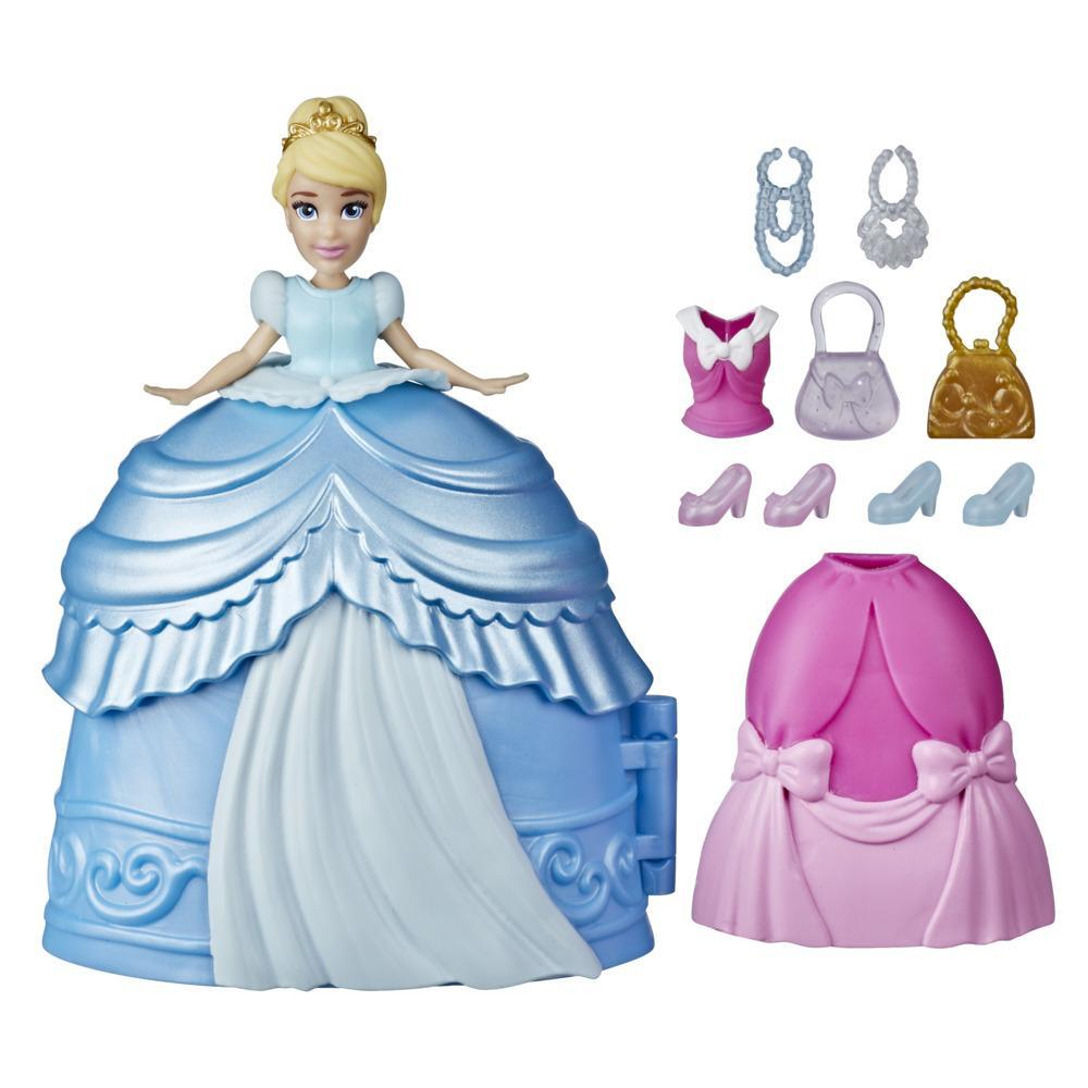 Disney Princess Secret Styles Fashion Surprise Cinderella, Doll Playset with Clothes and Extras, Toy for Girls 4 and Up