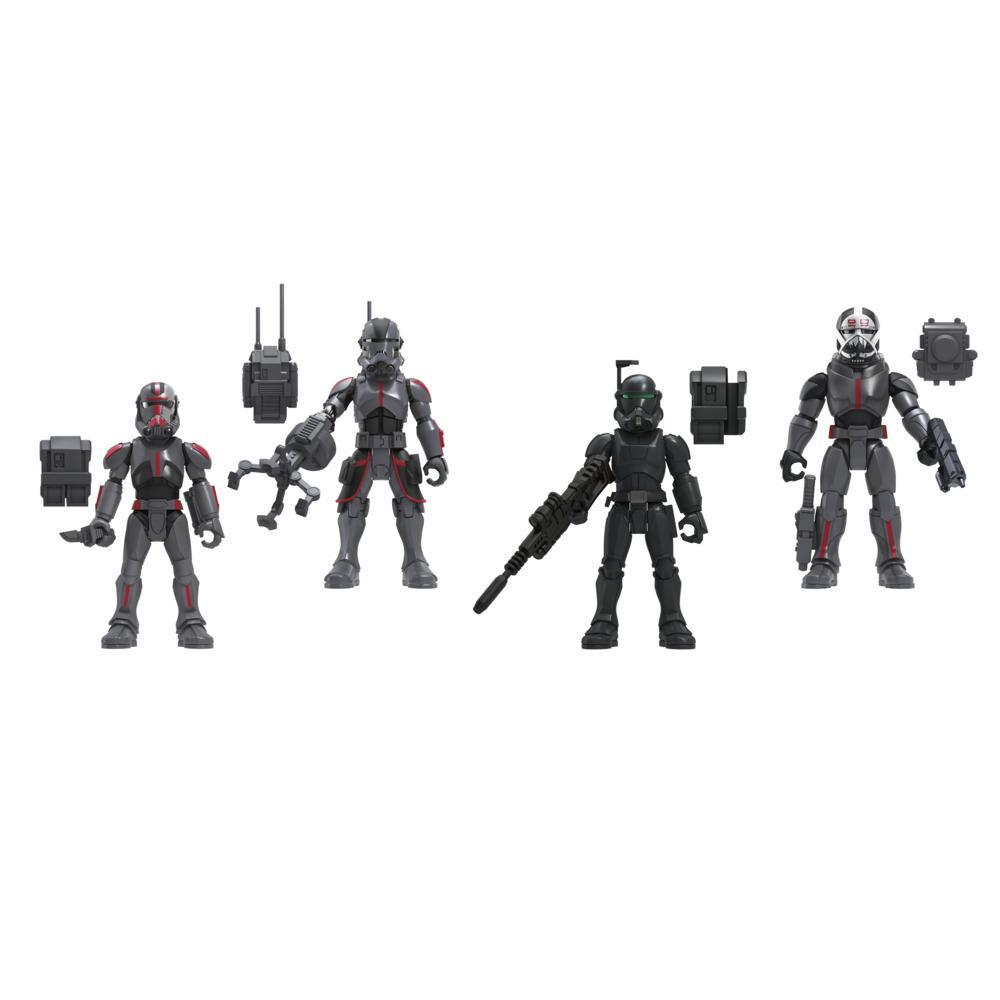 Star Wars Mission Fleet Clone Commando Clash 2.5-Inch-Scale Figure 4-Pack with Accessories, Toys for Kids Ages 4 and Up