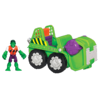 MARVEL Super Hero Adventures PLAYSKOOL HEROES SMASH MOBILE Vehicle with HULK Figure