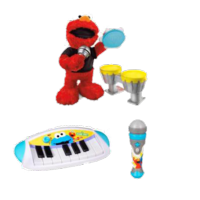 PLAYSKOOL SESAME STREET LET'S ROCK! Elmo & Cookie Monster Keyboard Value Pack