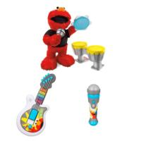 PLAYSKOOL SESAME STREET LET'S ROCK! Elmo Guitar Value Pack