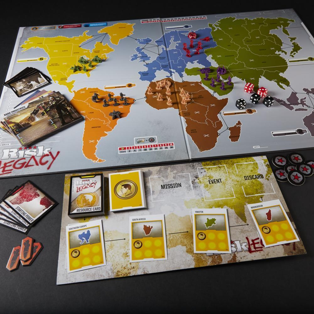 Avalon Hill Risk Legacy Strategy Tabletop Game, Immersive Narrative Board Game For Ages 13 and Up, 3-5 Players