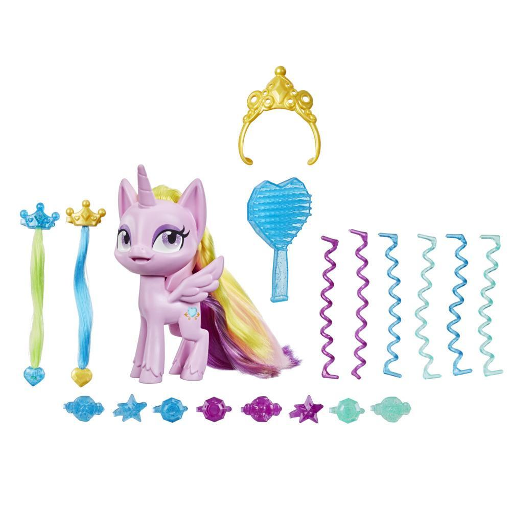 My Little Pony Best Hair Day Princess Cadance -- 5-Inch Hair-Styling Pony Figure with 17 Accessories, Ages 4 and Up