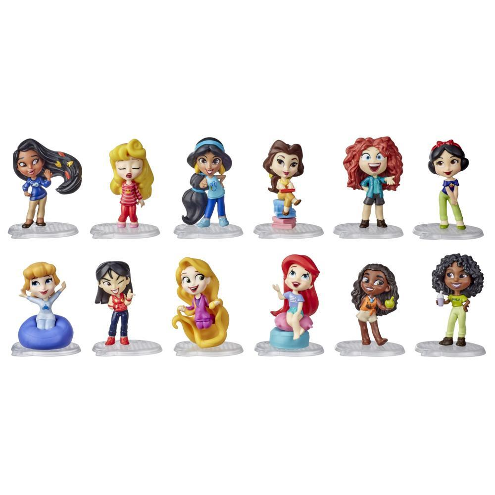 Disney Princess Comics Minis Comfy Squad Collection Pack, 12 Dolls; Collectable Toy For Girls 3 Years and Up