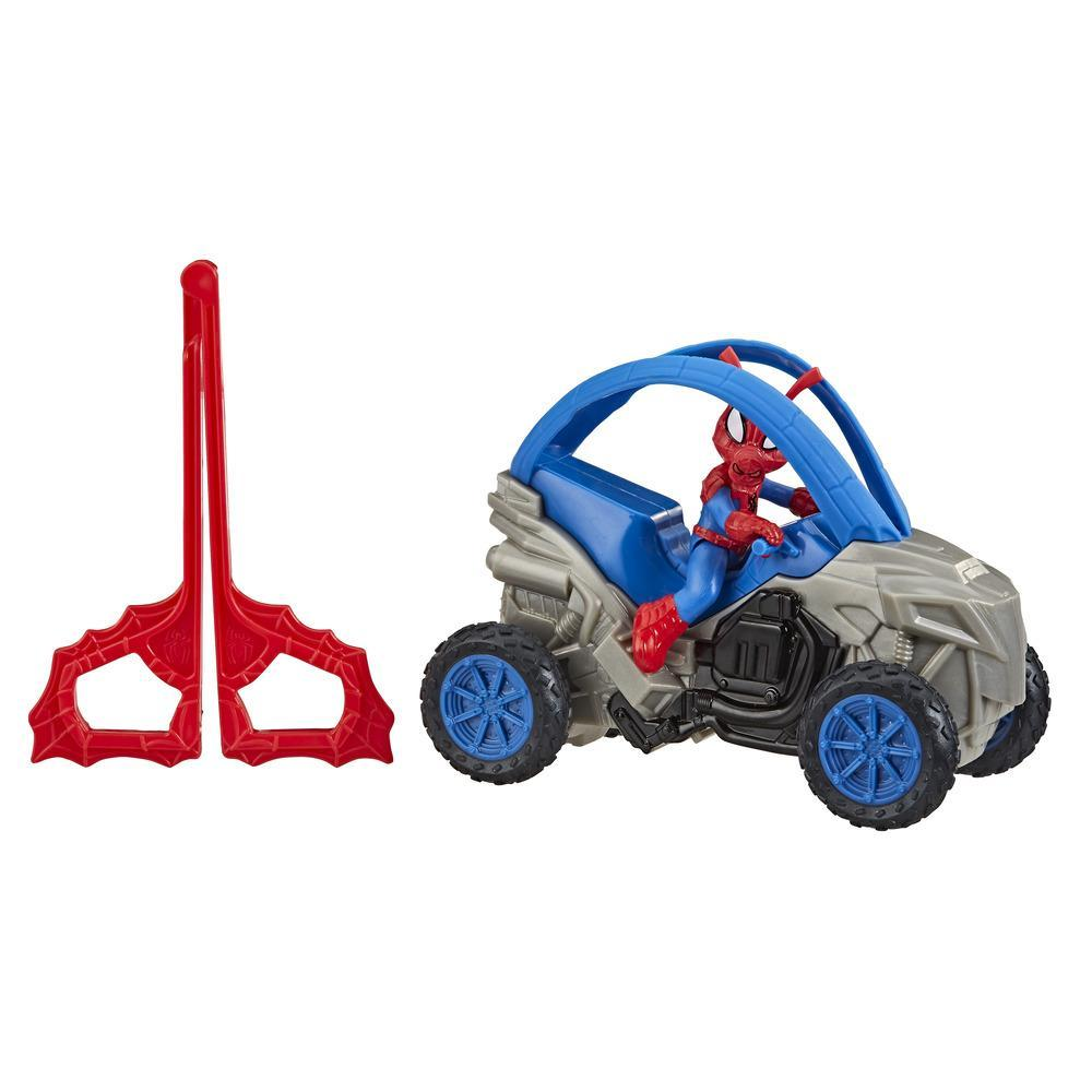 Marvel Spider-Man: Spider-Ham Stunt Vehicle 6-Inch-Scale Super Hero Action Figure And Vehicle Toy Great Kids For Ages 4 And Up