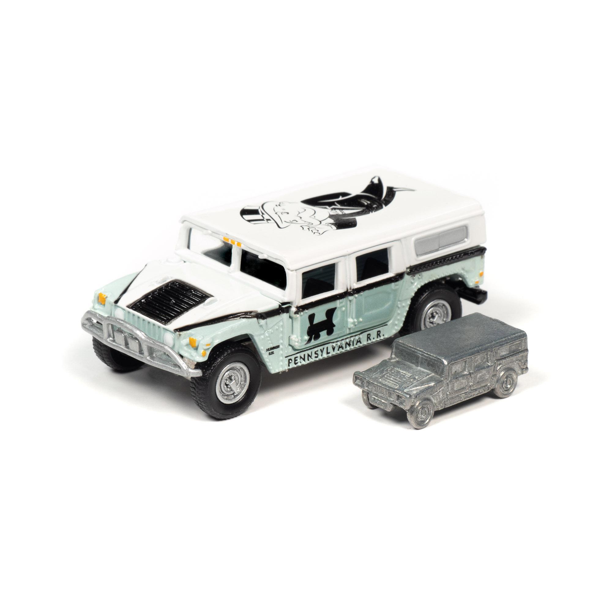 Johnny Lightning Pop Culture Monopoly 2004 Hummer H1 & Token 1:64 Diecast
