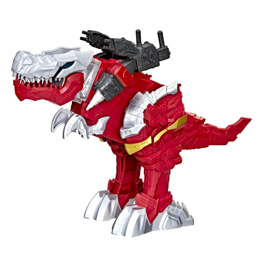 Power Rangers Battle Attackers Dino Fury T-Rex Champion Zord Electronic Action Figure Toy for Kids Ages 4 and Up