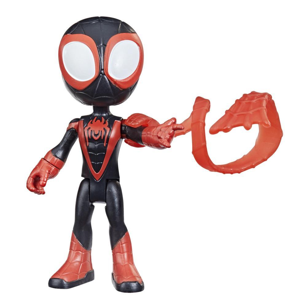 Marvel Spidey and His Amazing Friends Miles Morales Hero Figure, 4-Inch Scale Action Figure And 1 Accessory, For Kids Ages 3 And Up