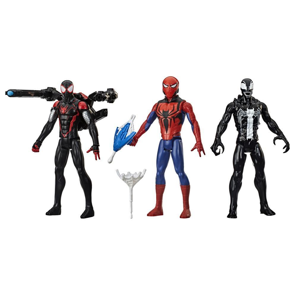 Marvel Titan Hero Series Blast Gear 3-Figure Pack with Characters from the Spider-Man Universe, ages 4 and up