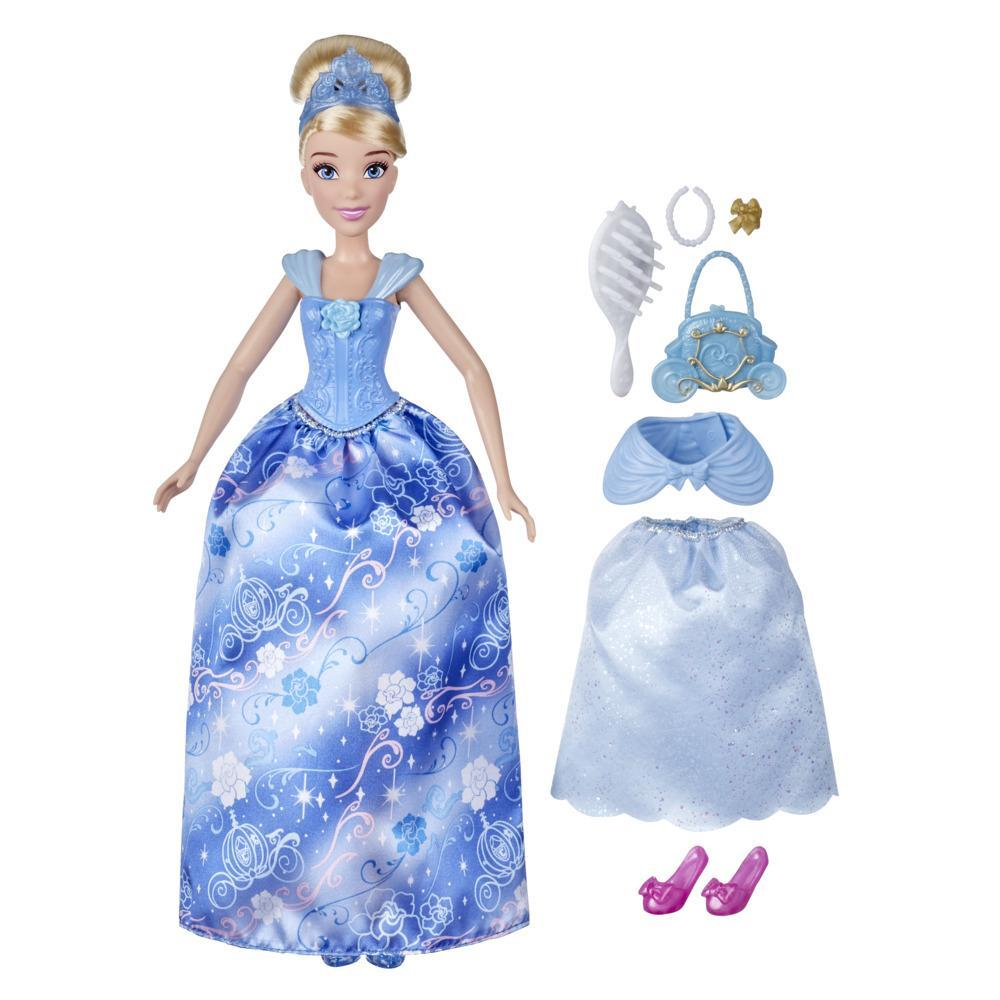 Disney Princess Style Surprise Cinderella Fashion Doll, 10 Fashions and Accessories, Toy for Girls 3 Years Old and Up