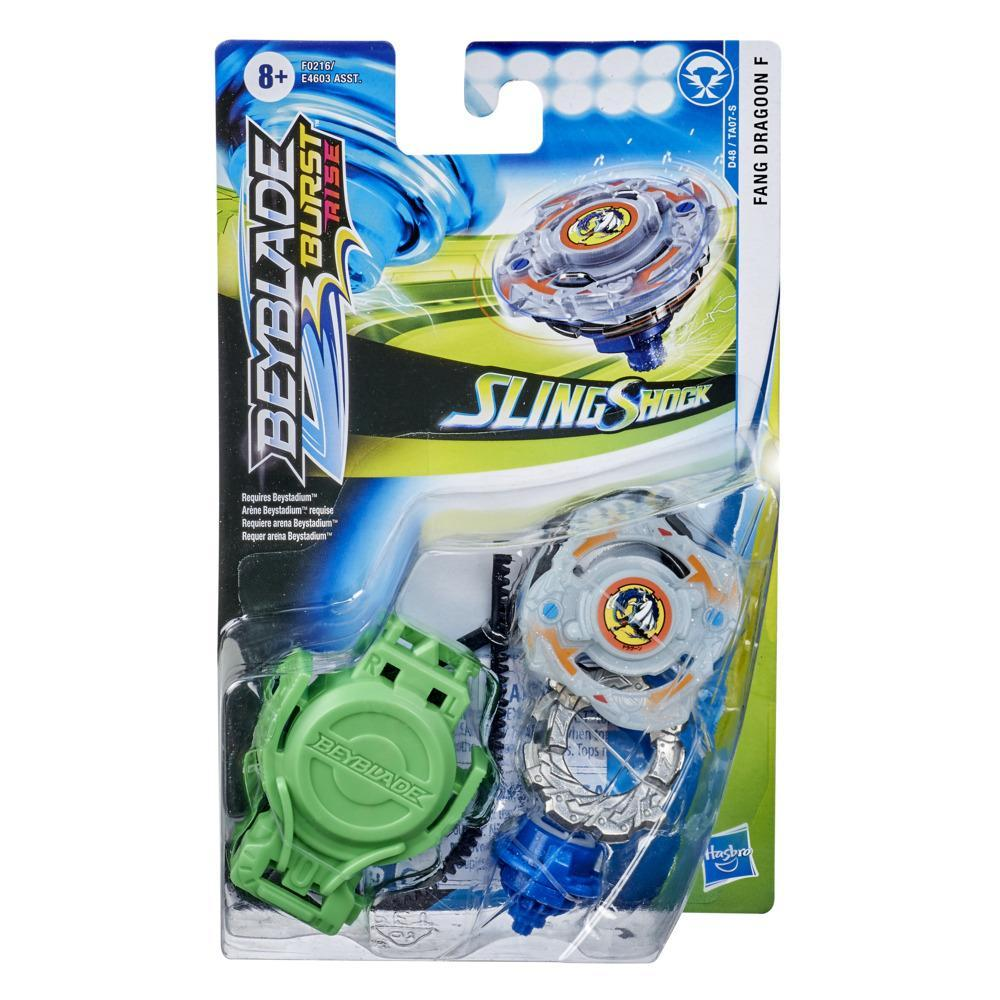 Beyblade Burst Rise Slingshock Fang Dragoon F Starter Pack -- Battling Top Toy and Right/Left-Spin Launcher
