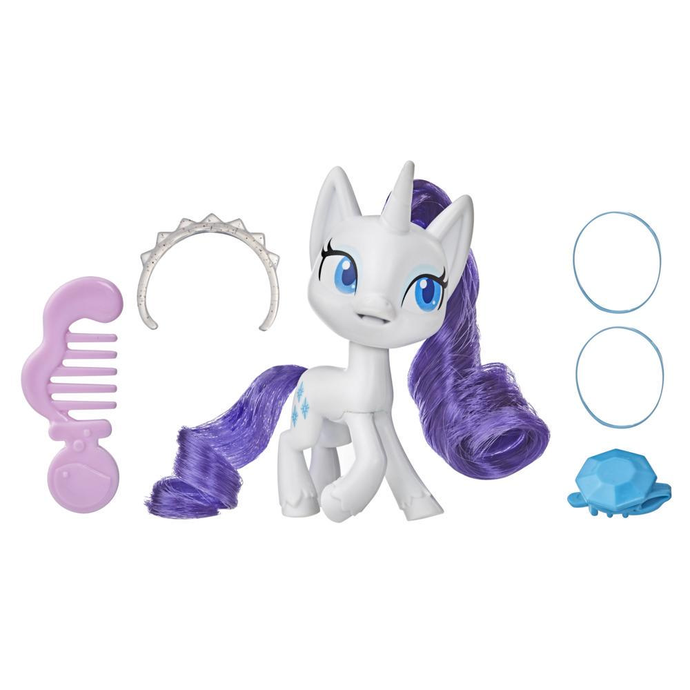 My Little Pony Rarity Potion Pony Figure -- 3-Inch White Pony Toy with Brushable Hair, Comb, and Accessories