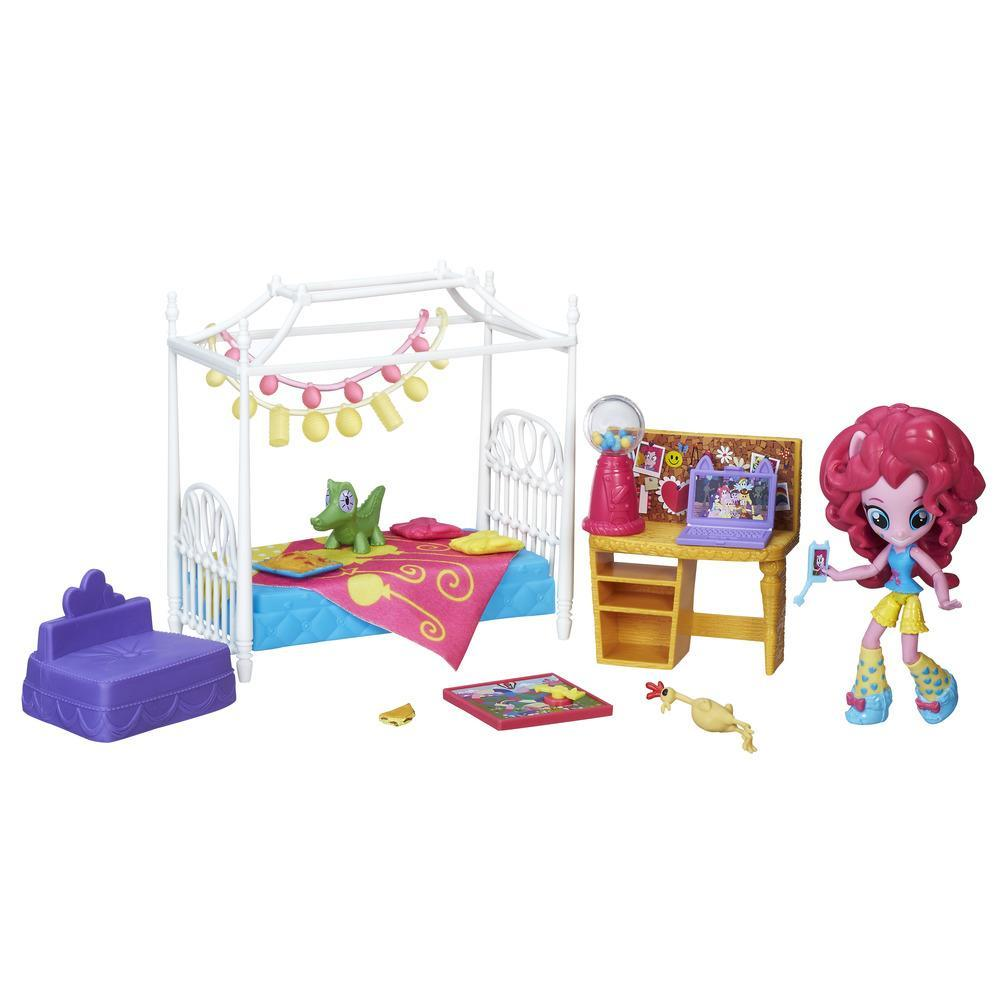 My Little Pony Equestria Girls Minis Pinkie Pie Slumber Party Bedroom Set (Blue)