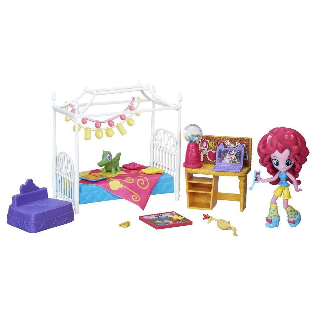My Little Pony Equestria Girls Minis Pinkie Pie Slumber Party Bedroom Set