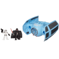 STAR WARS Jedi Force PLAYSKOOL HEROES Darth Vader's TIE FIGHTER with STORMTROOPER Figure