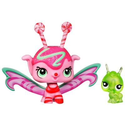 LITTLEST PET SHOP Fairies CANDYSWIRL DREAMS Pack (MINT SHIMMER FAIRY and Grasshopper)