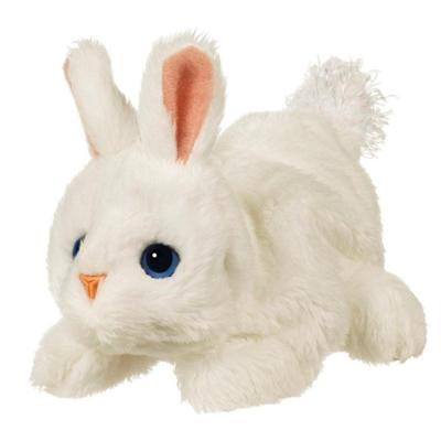 FURREAL FRIENDS SNUGGIMALS SNUG-A-BUTTON (White Bunny)