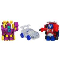 Transformers Bot Shots 3-Pack with Cindersaur, Optimus Prime and Autobot Jazz Vehicles