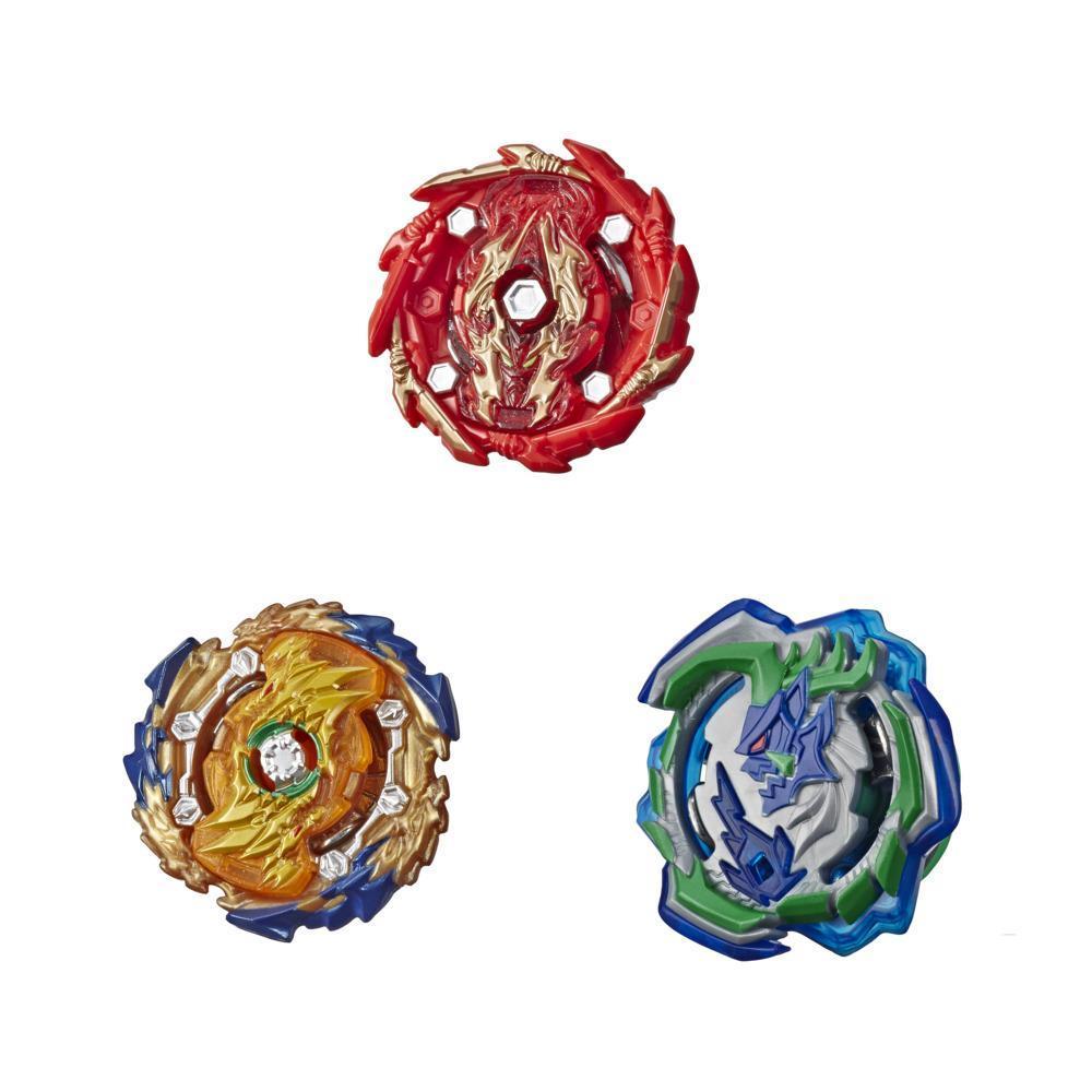 Beyblade Burst Rise Hypersphere Battle Hunters 3-Pack -- Wizard Fafnir F5, Ogre O5, Bushin Ashindra A5  Battling Top Toy
