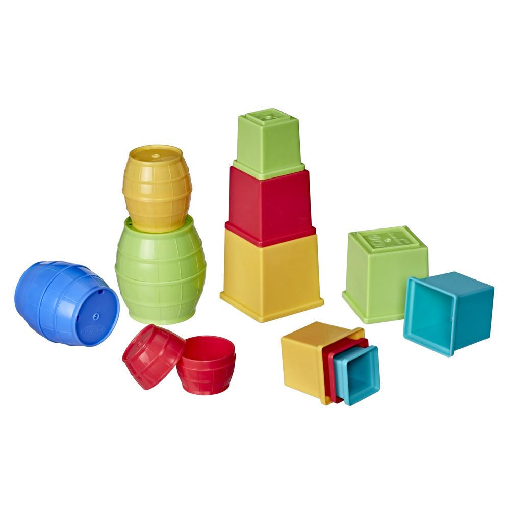 Playskool Stack and Nest Barrels and Blocks Bundle Toy for Babies and Toddlers 1 Year and Up
