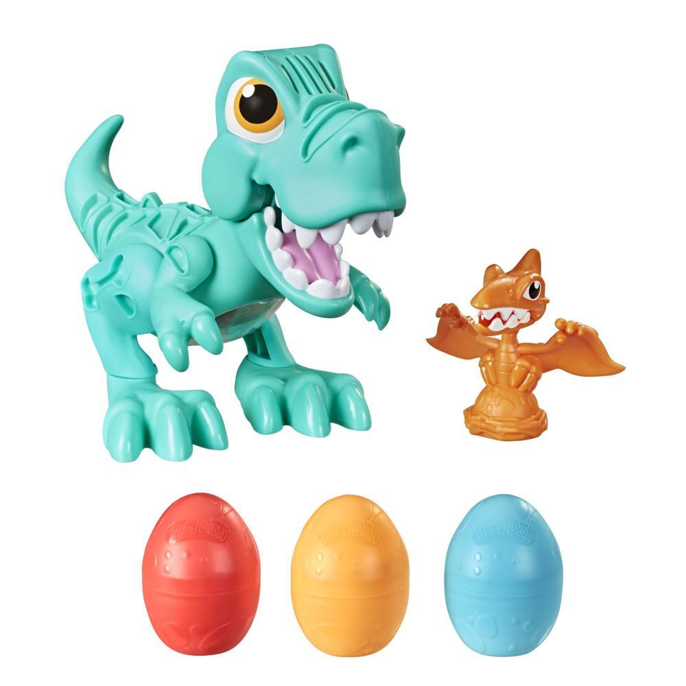 Play-Doh Dino Crew Crunchin' T-Rex Toy for Kids 3 Years and Up with Dinosaur Sounds and 3 Play-Doh Eggs