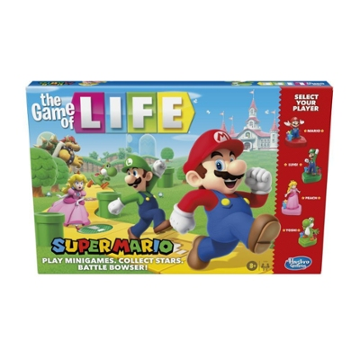 The Game of Life: Super Mario Edition Board Game for Kids Ages 8 and Up