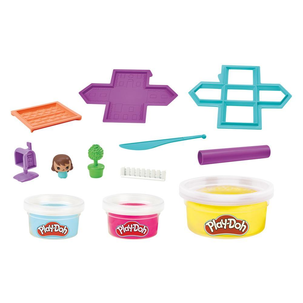 Play-Doh Builder House Kit Building Toy for Kids 5 Years and Up with 3 Non-Toxic Play-Doh Colors