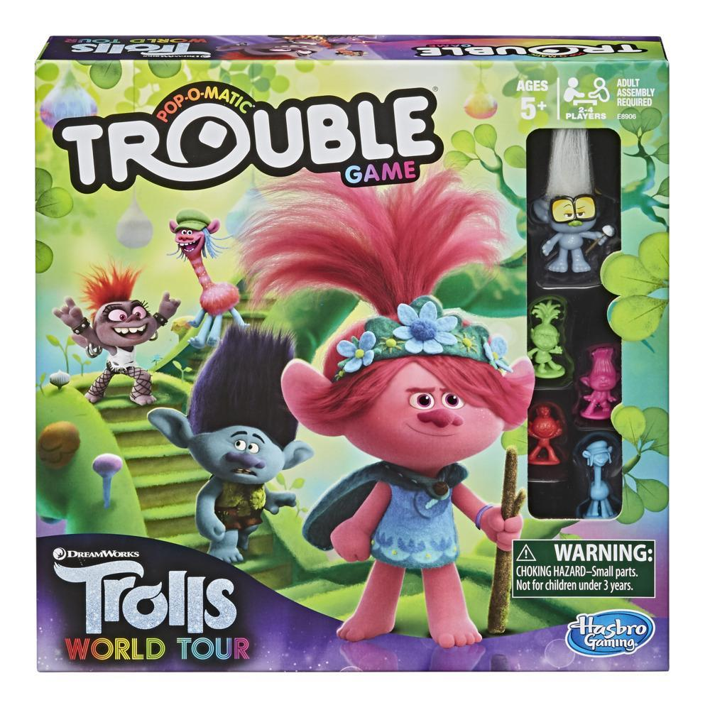 Trouble: DreamWorks Trolls World Tour Edition Board Game