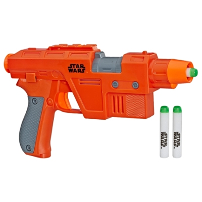 Star Wars Nerf Poe Dameron Blaster -- Lights and Sounds, GlowStrike Technology, 3 Official Nerf GlowStrike Darts